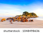 beach  mount maunganui  bay of... | Shutterstock . vector #1048498636