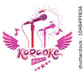 karaoke party promotion poster... | Shutterstock .eps vector #1048499836