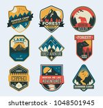 set of isolated badges with... | Shutterstock .eps vector #1048501945