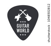 guitar world monochrome logo | Shutterstock .eps vector #1048502812