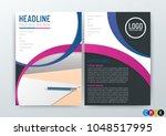 a4 size  abstract modern...   Shutterstock .eps vector #1048517995