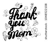 thank you mom   hand drawn... | Shutterstock .eps vector #1048522108