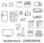 household appliances set. home... | Shutterstock .eps vector #1048530436