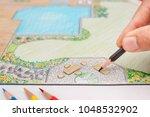 landscape architect design... | Shutterstock . vector #1048532902