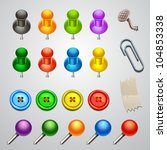 colorful push pin | Shutterstock .eps vector #104853338