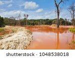gold mining  destruction of the ... | Shutterstock . vector #1048538018