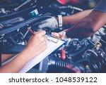 asian women engineers and...   Shutterstock . vector #1048539122