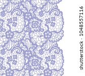 seamless lace border. vector... | Shutterstock .eps vector #1048557116