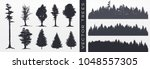 tree collection  forest... | Shutterstock .eps vector #1048557305