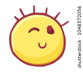 colored emoticons icon wink ... | Shutterstock .eps vector #1048572056