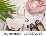 Flat Lay With Women Accessorie...