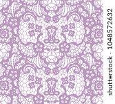 gentle lace seamless pattern... | Shutterstock .eps vector #1048572632