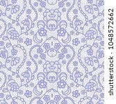 gentle lace seamless pattern... | Shutterstock .eps vector #1048572662