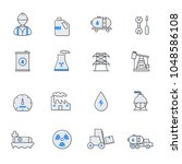 oil and industry icons  vector... | Shutterstock .eps vector #1048586108