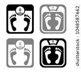 bathroom scale vector icons on... | Shutterstock .eps vector #1048587662