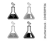laboratory glass vector icons... | Shutterstock .eps vector #1048589936