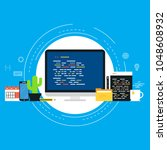 coding  programming  website... | Shutterstock .eps vector #1048608932