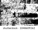 brick wall surface. black white ... | Shutterstock .eps vector #1048609262
