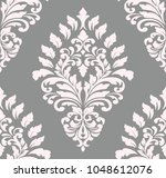 vector damask seamless pattern... | Shutterstock .eps vector #1048612076