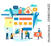 website development  website... | Shutterstock .eps vector #1048614632