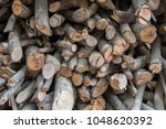 firewood for the winter  stacks ... | Shutterstock . vector #1048620392