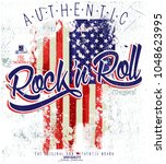 rock and roll | Shutterstock .eps vector #1048623995