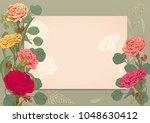 horizontal frame  card for... | Shutterstock .eps vector #1048630412