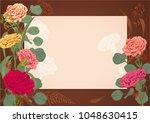 horizontal frame  card for... | Shutterstock .eps vector #1048630415