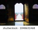 the entrance door is beautiful. | Shutterstock . vector #1048631468
