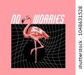 no worries. vector colorful... | Shutterstock .eps vector #1048631528