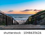 Wooden Steps Leading To Beach...