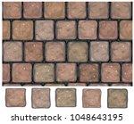 vector seamless texture  stones ... | Shutterstock .eps vector #1048643195