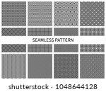 set of seamless geometric... | Shutterstock .eps vector #1048644128