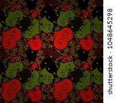 valentine' s day card seamless... | Shutterstock .eps vector #1048645298