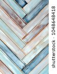 abstract of colored wooden... | Shutterstock . vector #1048648418
