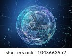 point  line  surface composed... | Shutterstock . vector #1048663952
