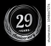 29 years anniversary.... | Shutterstock .eps vector #1048667276