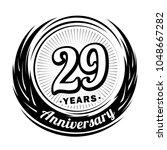 29 years anniversary.... | Shutterstock .eps vector #1048667282