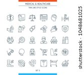 thin line design icons on... | Shutterstock .eps vector #1048681025