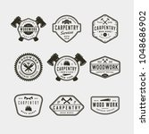 set of vintage carpentry logos. ... | Shutterstock .eps vector #1048686902