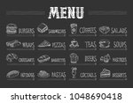 cafe menu with food and drinks... | Shutterstock .eps vector #1048690418