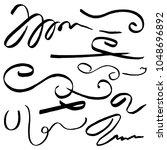 hand drawn ink grunge scrolls ...   Shutterstock .eps vector #1048696892