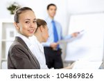 young business people working... | Shutterstock . vector #104869826