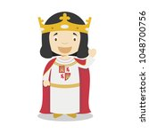alfonso x of castile  the wise  ... | Shutterstock .eps vector #1048700756
