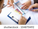 financial paper charts and... | Shutterstock . vector #104870492
