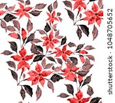 watercolor seamless pattern... | Shutterstock . vector #1048705652