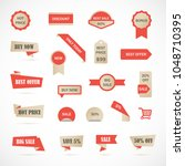 vector stickers  price tag ...   Shutterstock .eps vector #1048710395