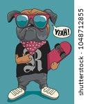 skateboarder dog vector design | Shutterstock .eps vector #1048712855
