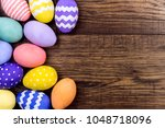 happy easter concept. colorful...   Shutterstock . vector #1048718096