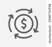 money flow icon line symbol....